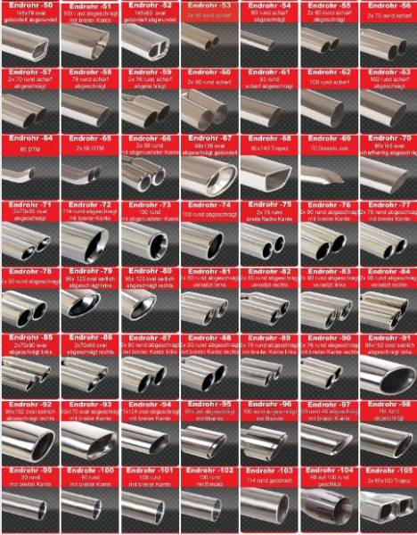 Friedrich Sportendschalldämpfer Edelstahl/stainless steel passend für AudiA6 4B